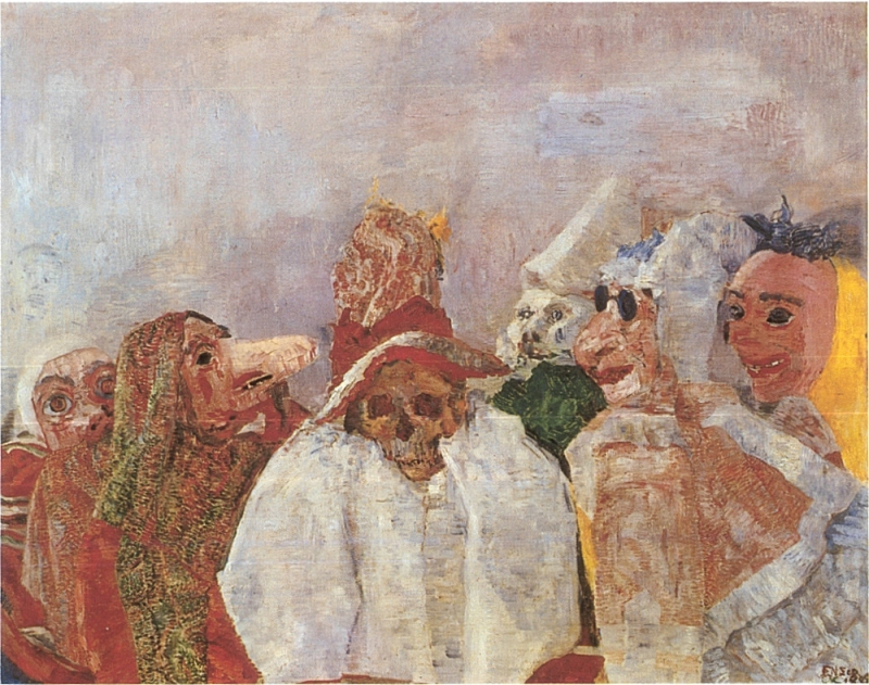 James Ensor's Masks Confronting Death (1888)